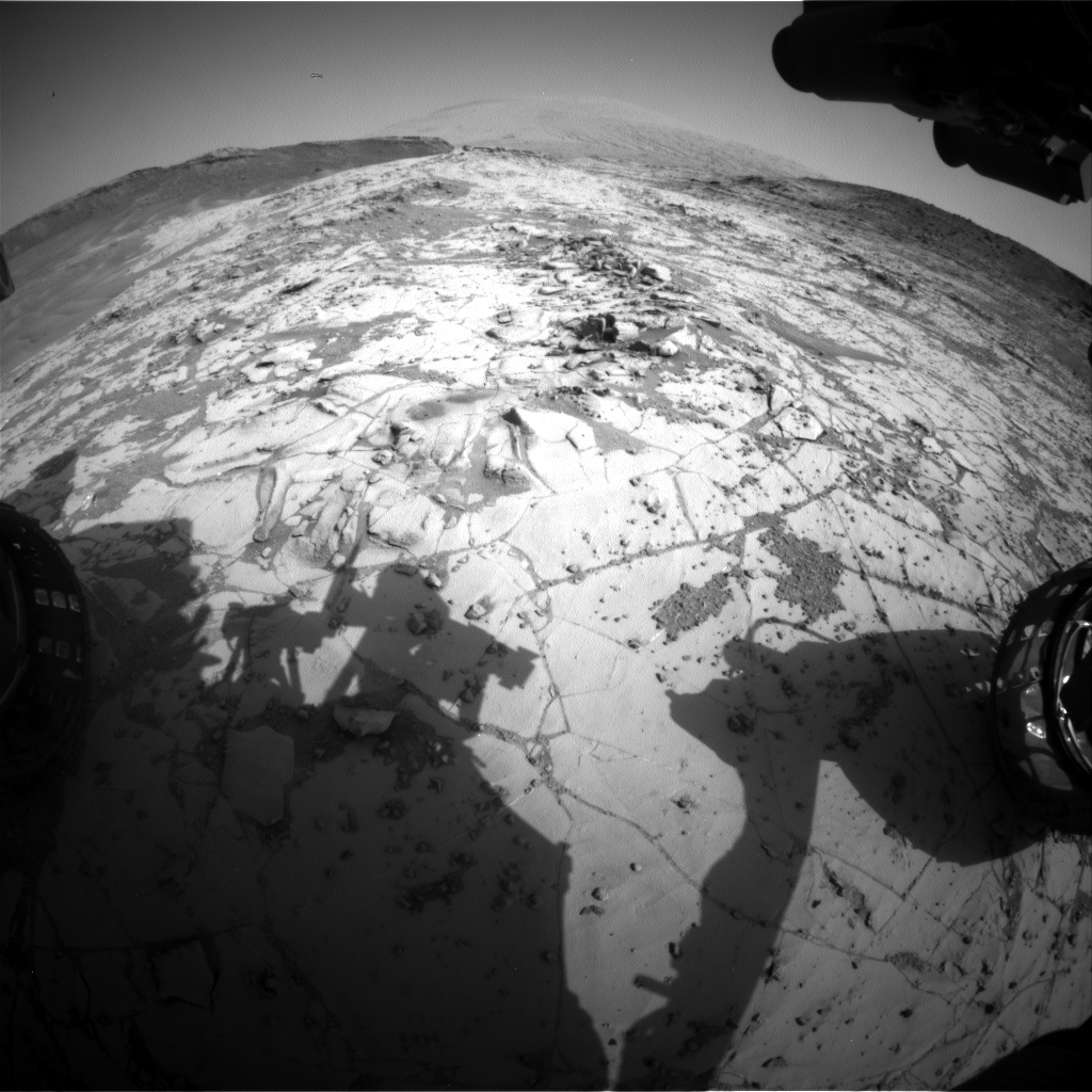 Nasa's Mars rover Curiosity acquired this image using its Front Hazard Avoidance Camera (Front Hazcam) on Sol 888, at drive 0, site number 45