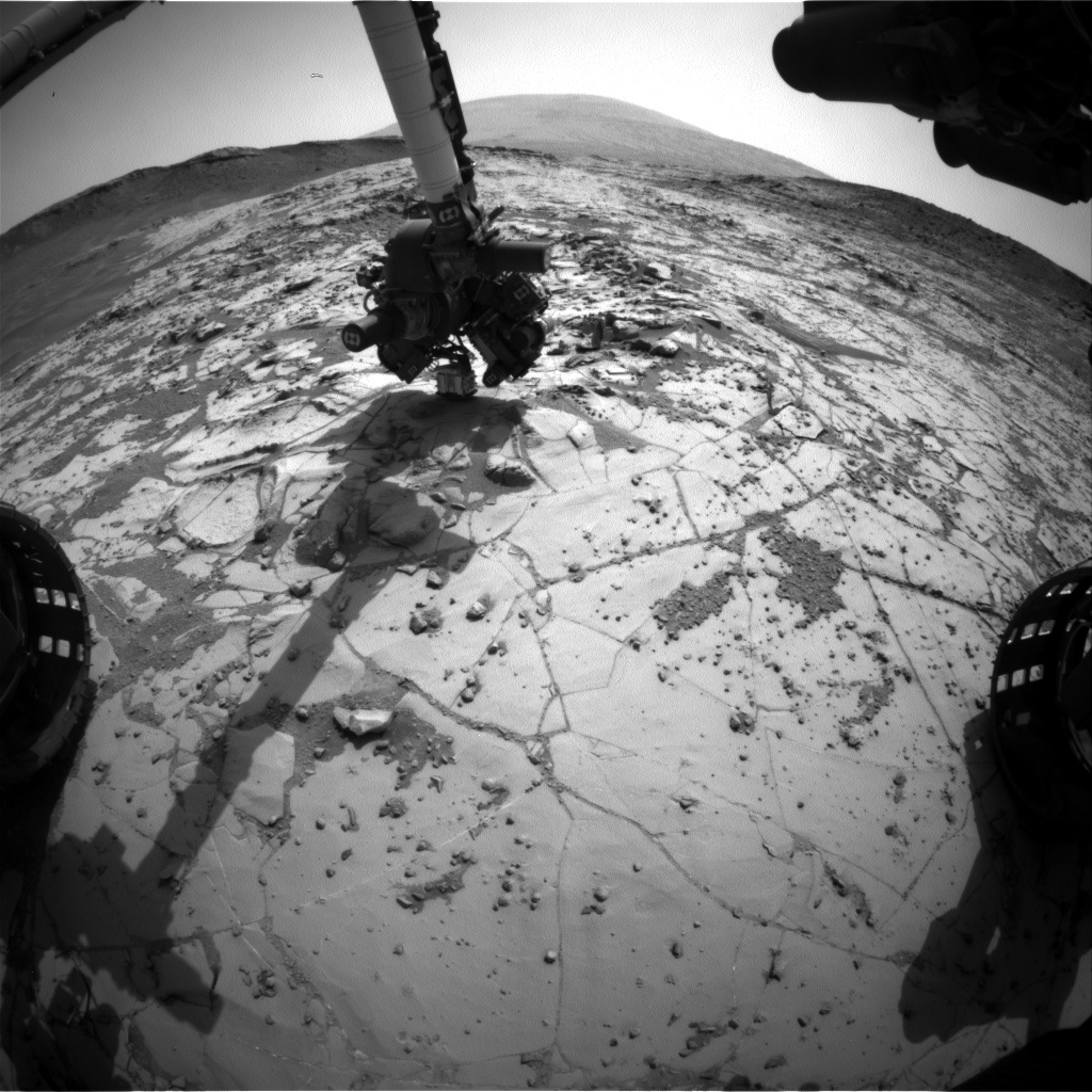 Nasa's Mars rover Curiosity acquired this image using its Front Hazard Avoidance Camera (Front Hazcam) on Sol 889, at drive 0, site number 45