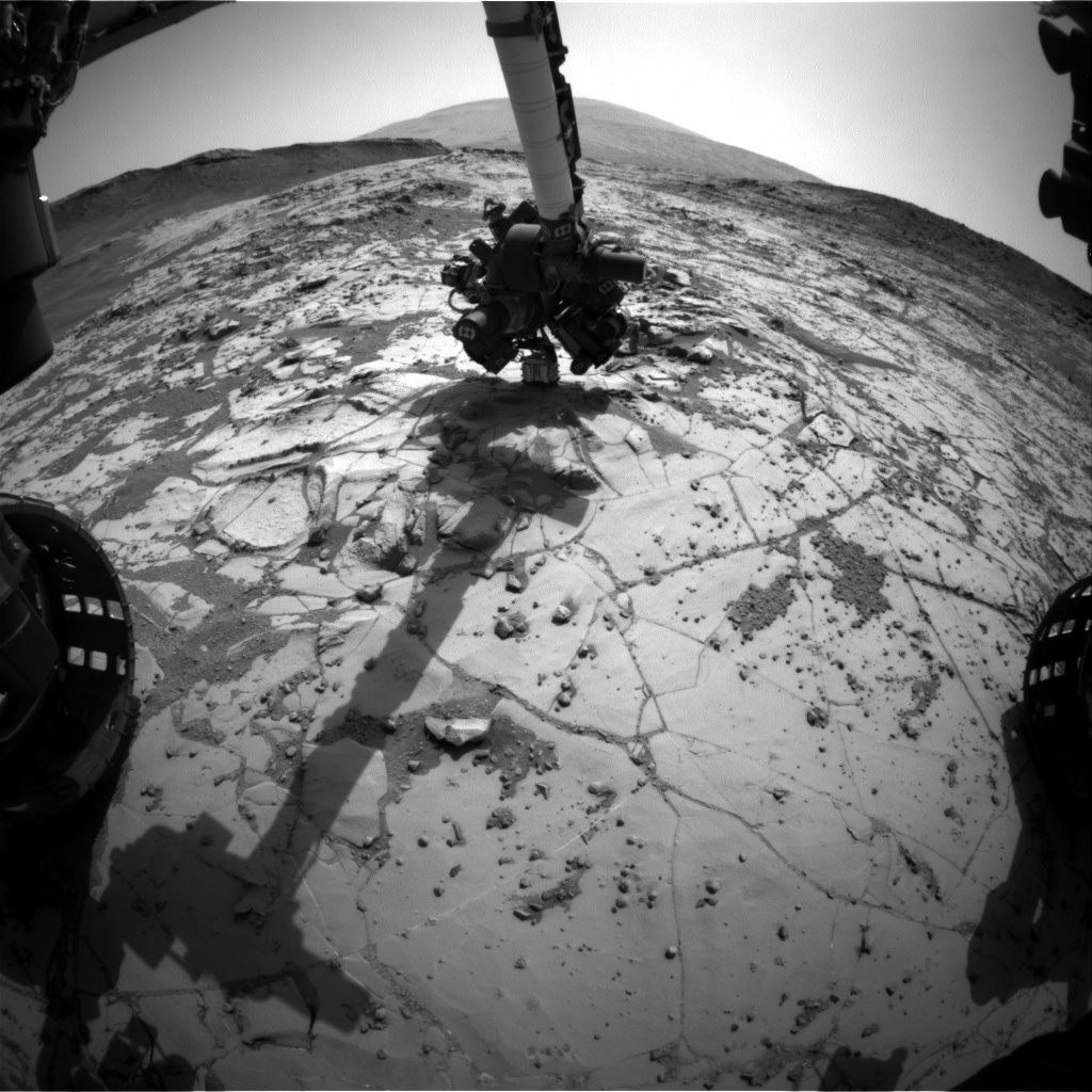 Nasa's Mars rover Curiosity acquired this image using its Front Hazard Avoidance Camera (Front Hazcam) on Sol 890, at drive 0, site number 45