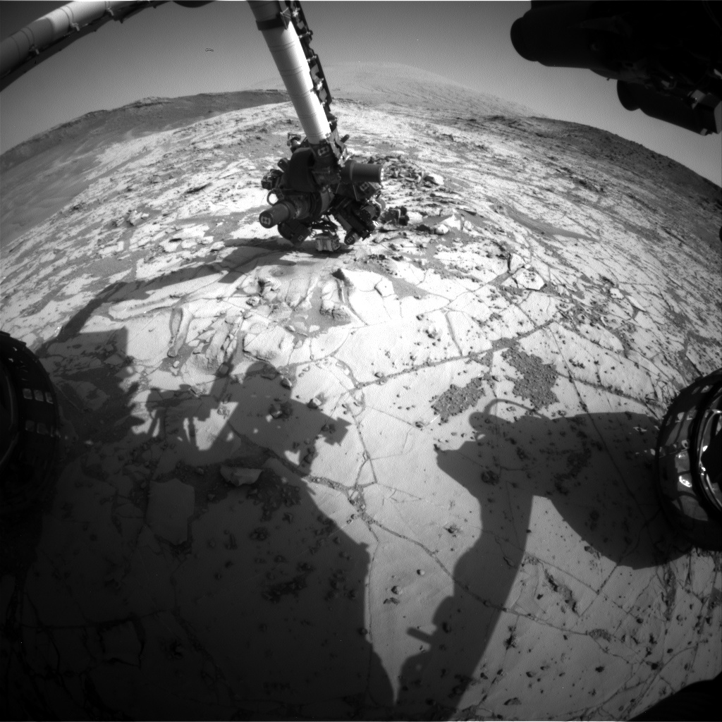 Nasa's Mars rover Curiosity acquired this image using its Front Hazard Avoidance Camera (Front Hazcam) on Sol 891, at drive 0, site number 45