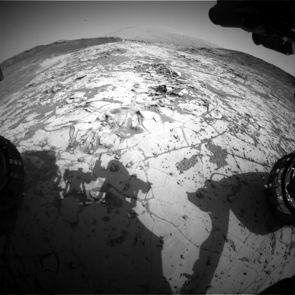 NASA's Mars rover Curiosity acquired this image using its Front Hazard Avoidance Cameras (Front Hazcams) on Sol 892