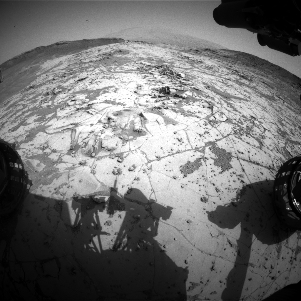 Nasa's Mars rover Curiosity acquired this image using its Front Hazard Avoidance Camera (Front Hazcam) on Sol 893, at drive 0, site number 45