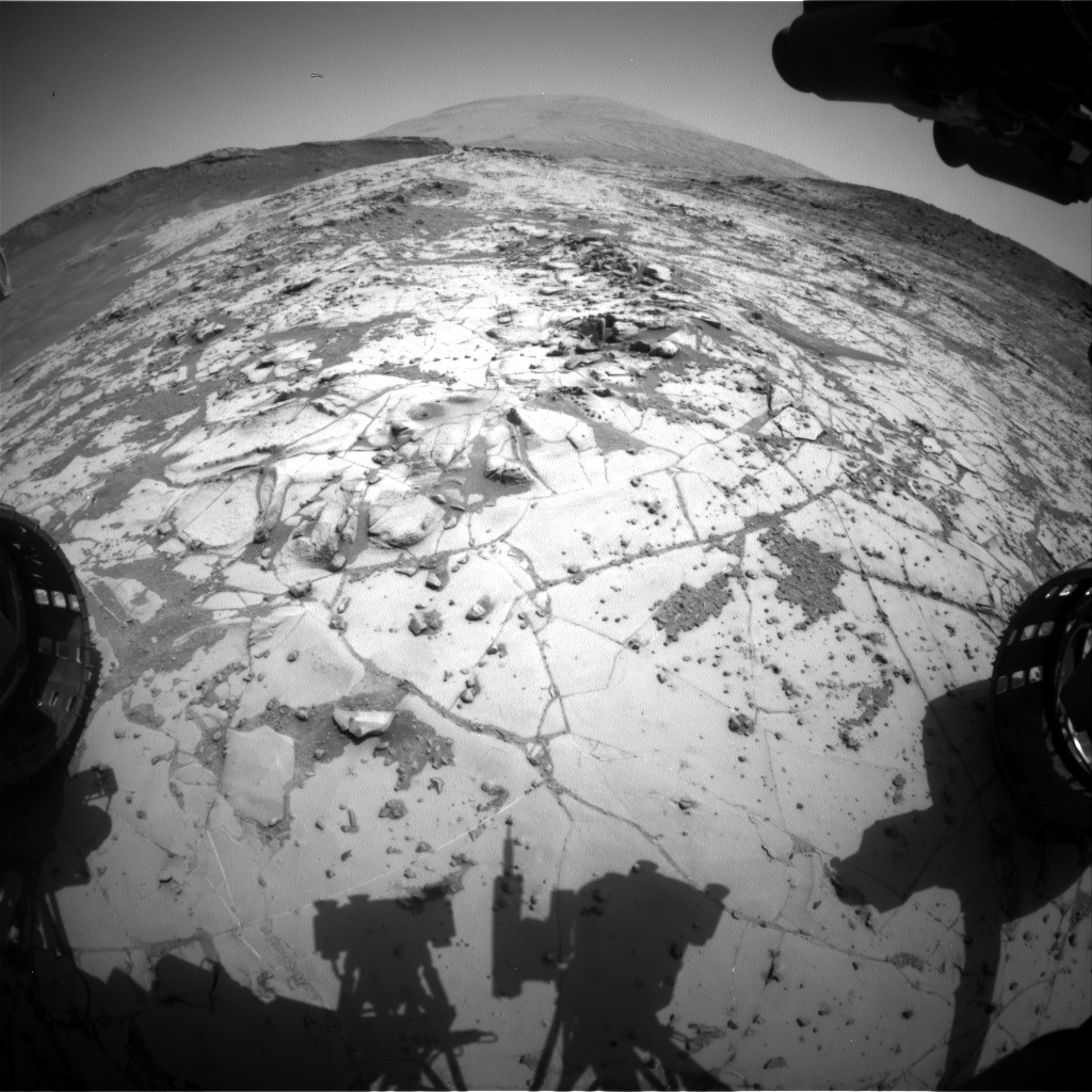 Nasa's Mars rover Curiosity acquired this image using its Front Hazard Avoidance Camera (Front Hazcam) on Sol 894, at drive 0, site number 45