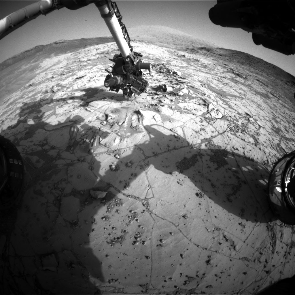 Nasa's Mars rover Curiosity acquired this image using its Front Hazard Avoidance Camera (Front Hazcam) on Sol 895, at drive 0, site number 45