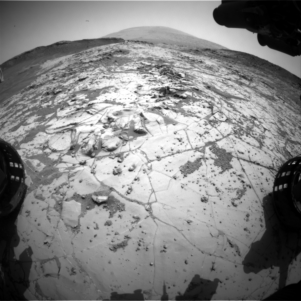 Nasa's Mars rover Curiosity acquired this image using its Front Hazard Avoidance Camera (Front Hazcam) on Sol 896, at drive 0, site number 45