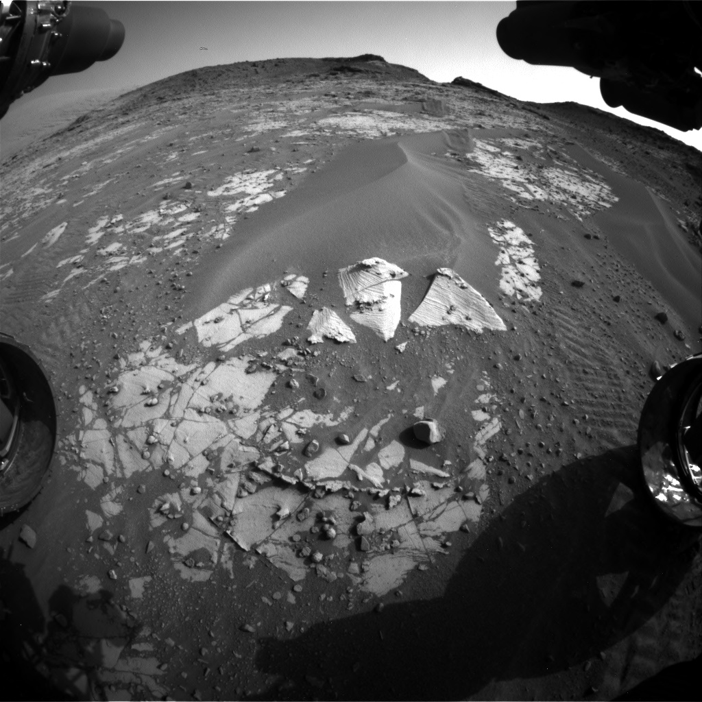 Nasa's Mars rover Curiosity acquired this image using its Front Hazard Avoidance Camera (Front Hazcam) on Sol 896, at drive 150, site number 45
