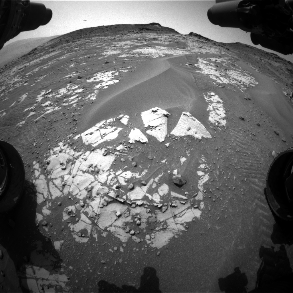Nasa's Mars rover Curiosity acquired this image using its Front Hazard Avoidance Camera (Front Hazcam) on Sol 897, at drive 150, site number 45