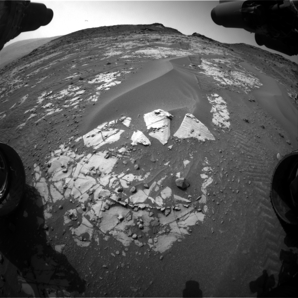 Nasa's Mars rover Curiosity acquired this image using its Front Hazard Avoidance Camera (Front Hazcam) on Sol 898, at drive 150, site number 45