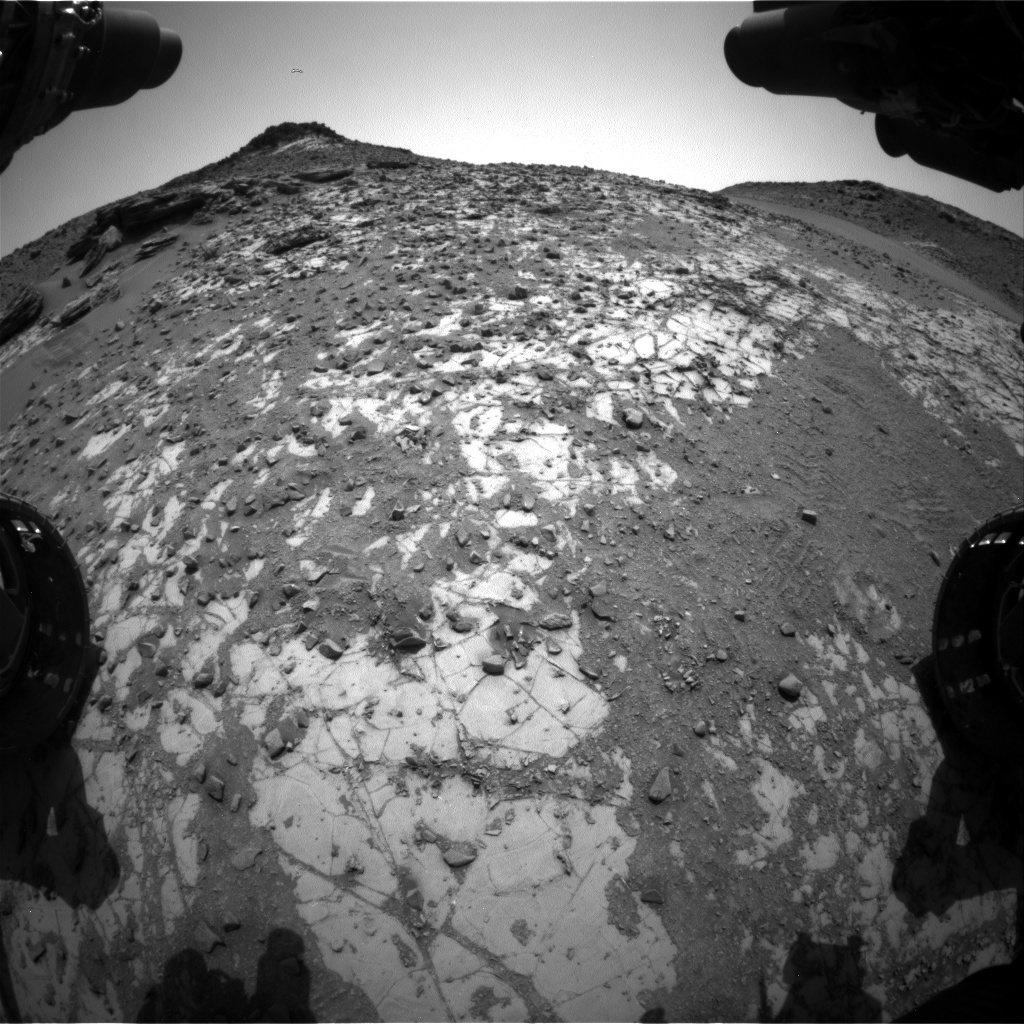 NASA's Mars rover Curiosity acquired this image using its Front Hazard Avoidance Cameras (Front Hazcams) on Sol 901