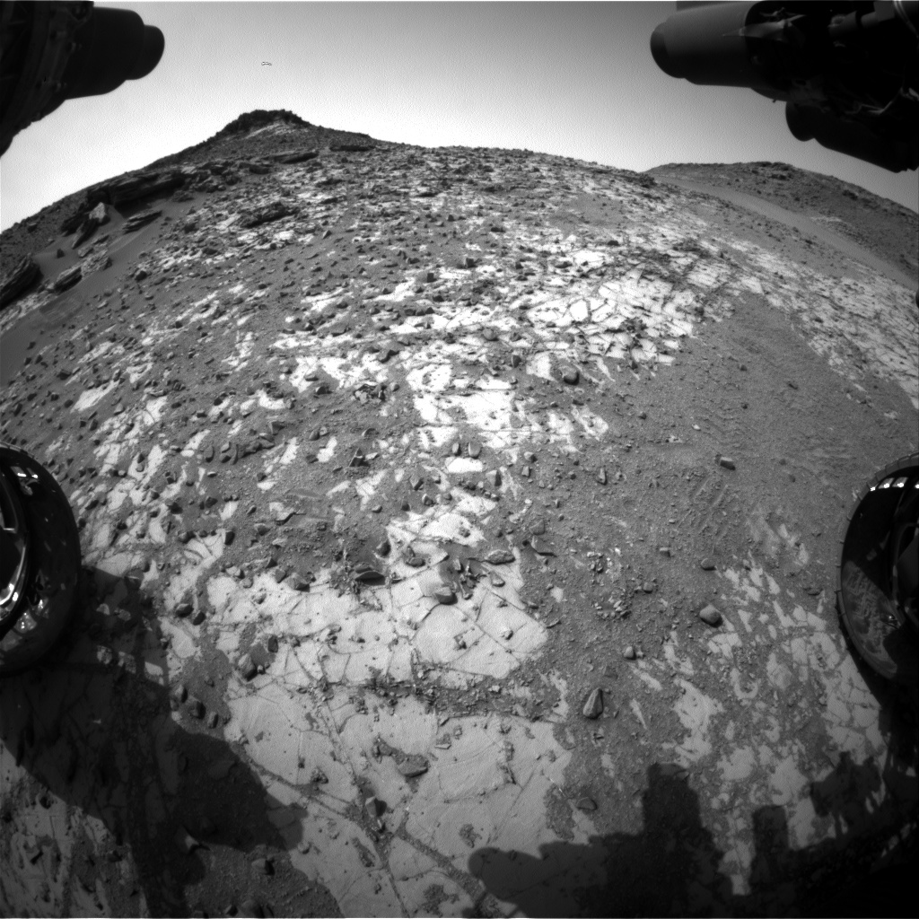 Nasa's Mars rover Curiosity acquired this image using its Front Hazard Avoidance Camera (Front Hazcam) on Sol 902, at drive 366, site number 45