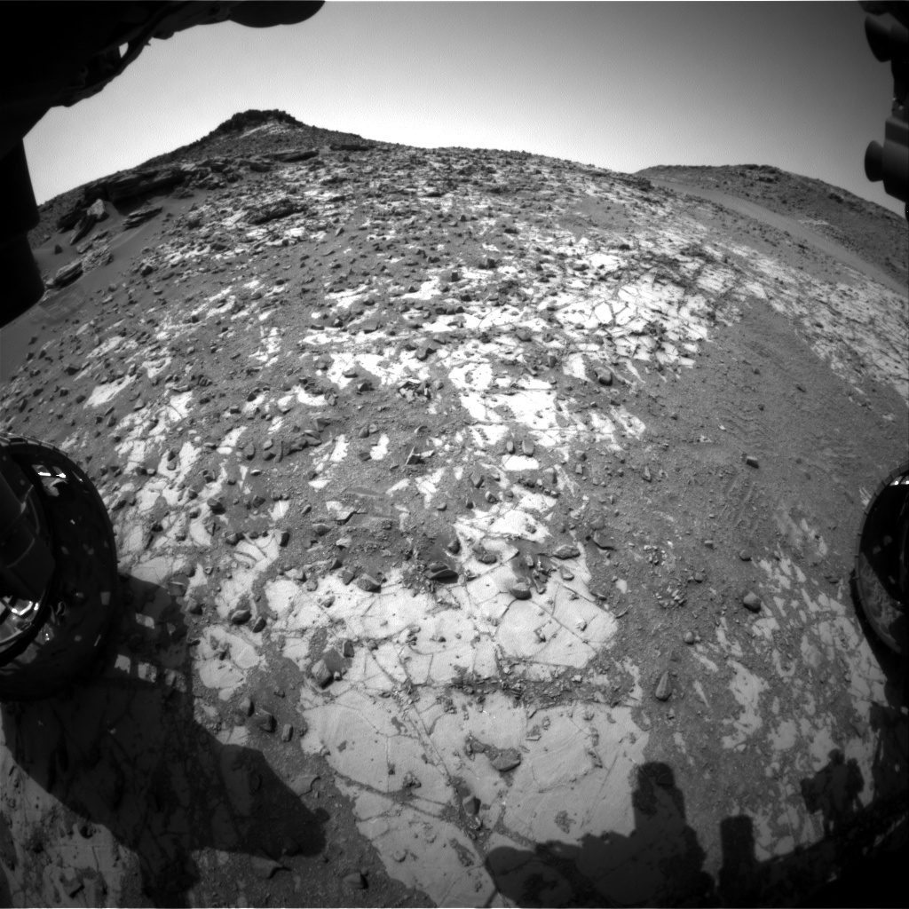 Nasa's Mars rover Curiosity acquired this image using its Front Hazard Avoidance Camera (Front Hazcam) on Sol 903, at drive 366, site number 45