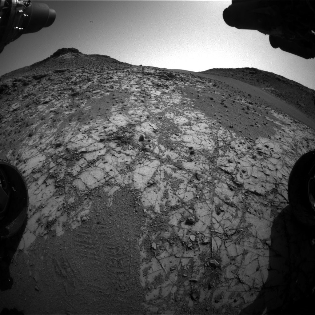 Nasa's Mars rover Curiosity acquired this image using its Front Hazard Avoidance Camera (Front Hazcam) on Sol 903, at drive 450, site number 45
