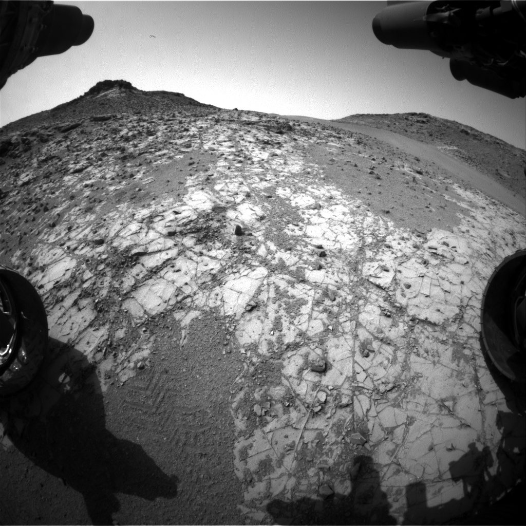 Nasa's Mars rover Curiosity acquired this image using its Front Hazard Avoidance Camera (Front Hazcam) on Sol 904, at drive 450, site number 45