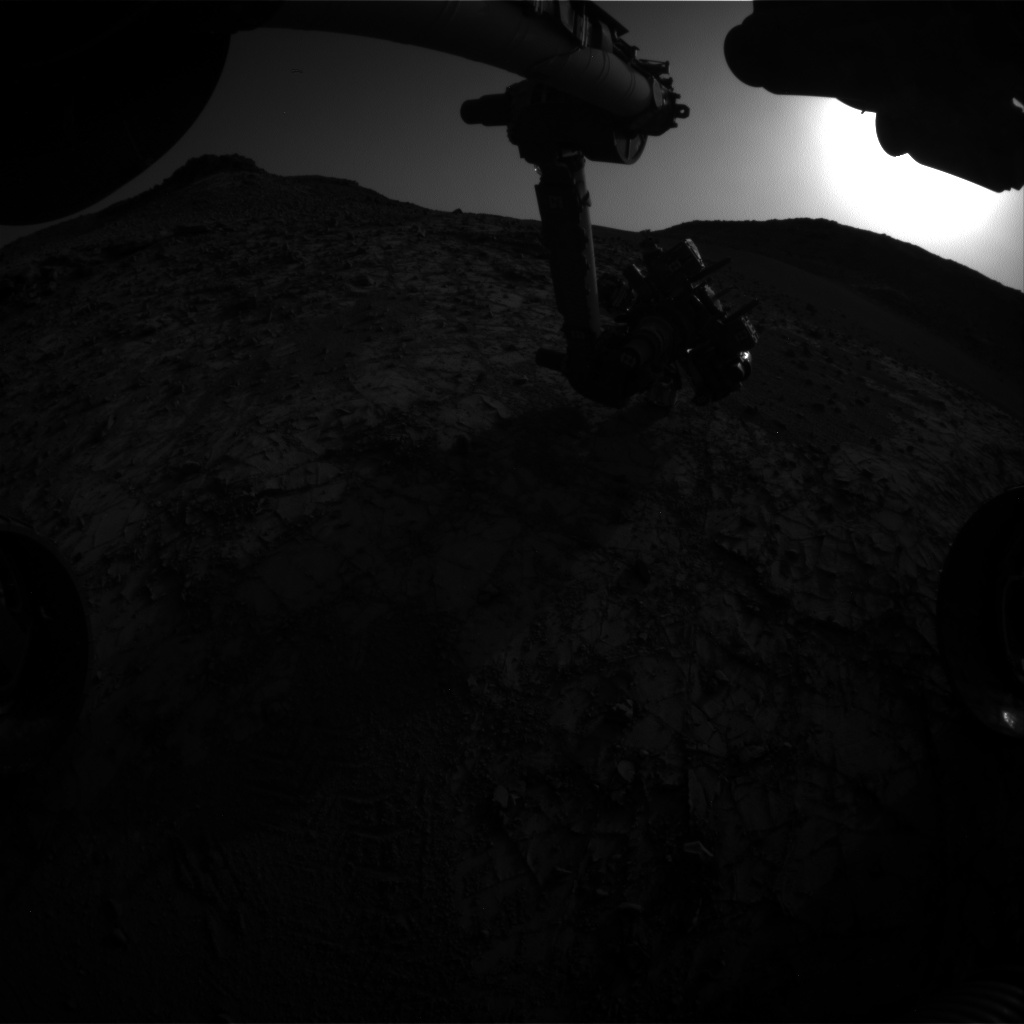 Nasa's Mars rover Curiosity acquired this image using its Front Hazard Avoidance Camera (Front Hazcam) on Sol 905, at drive 450, site number 45