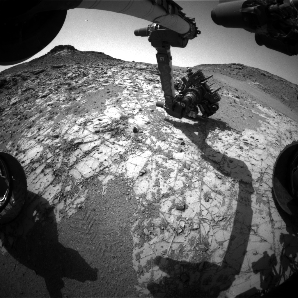 Nasa's Mars rover Curiosity acquired this image using its Front Hazard Avoidance Camera (Front Hazcam) on Sol 906, at drive 450, site number 45