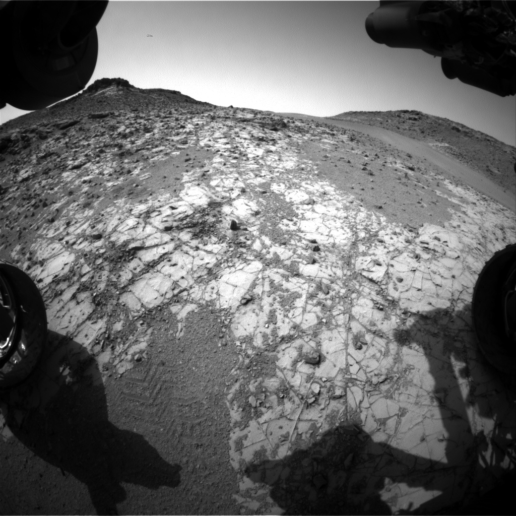 Nasa's Mars rover Curiosity acquired this image using its Front Hazard Avoidance Camera (Front Hazcam) on Sol 907, at drive 450, site number 45