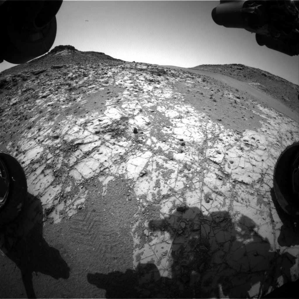 Nasa's Mars rover Curiosity acquired this image using its Front Hazard Avoidance Camera (Front Hazcam) on Sol 908, at drive 450, site number 45