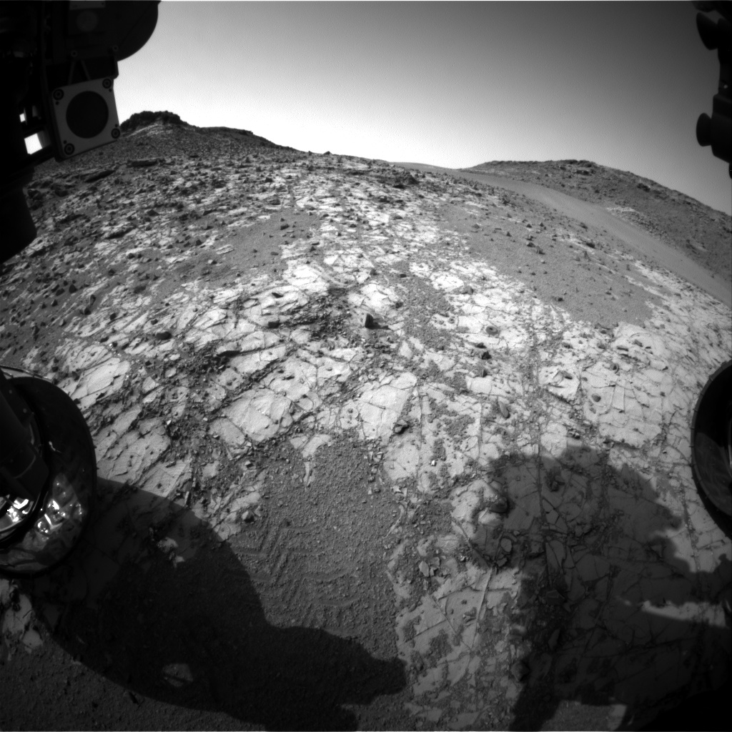 Nasa's Mars rover Curiosity acquired this image using its Front Hazard Avoidance Camera (Front Hazcam) on Sol 909, at drive 450, site number 45
