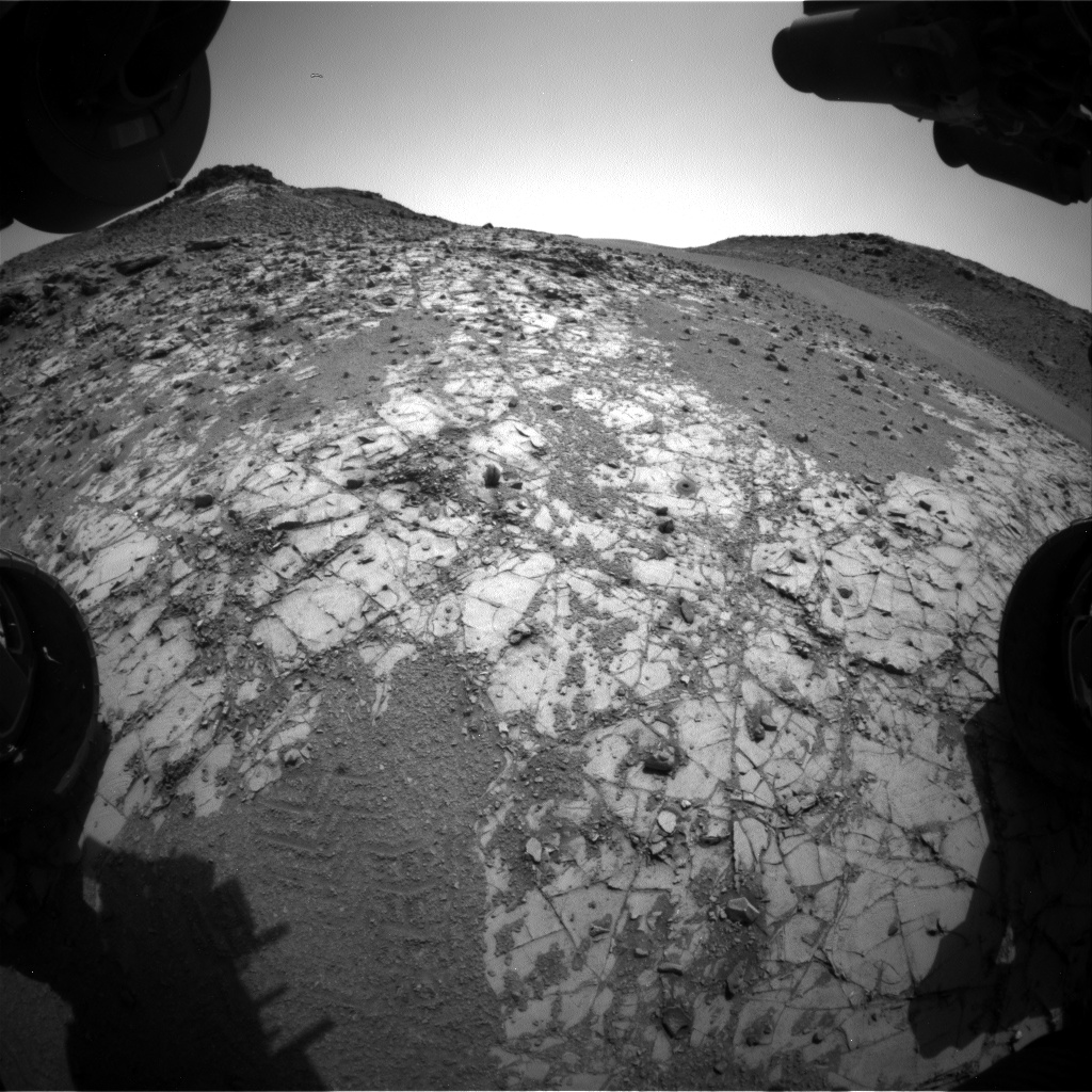 Nasa's Mars rover Curiosity acquired this image using its Front Hazard Avoidance Camera (Front Hazcam) on Sol 911, at drive 450, site number 45