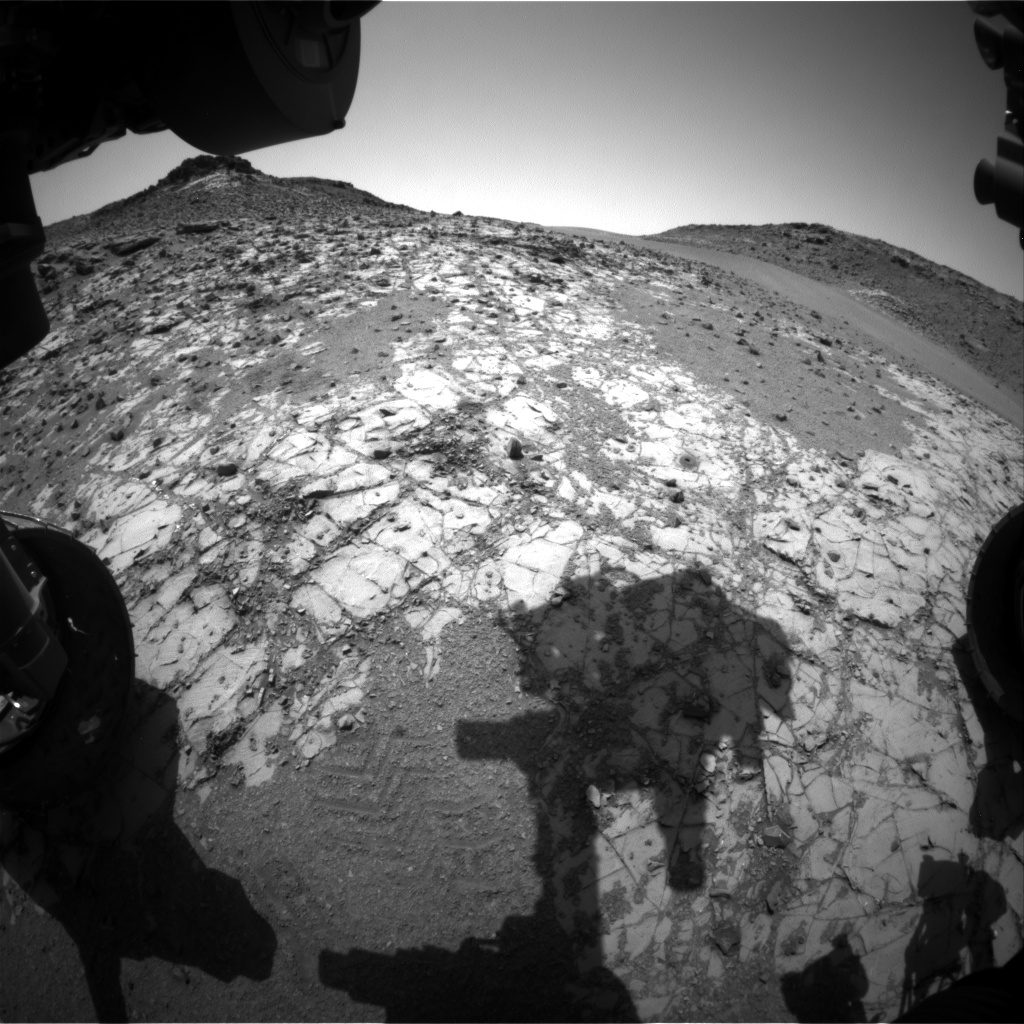 Nasa's Mars rover Curiosity acquired this image using its Front Hazard Avoidance Camera (Front Hazcam) on Sol 915, at drive 450, site number 45