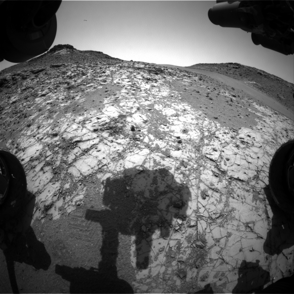 Nasa's Mars rover Curiosity acquired this image using its Front Hazard Avoidance Camera (Front Hazcam) on Sol 916, at drive 450, site number 45
