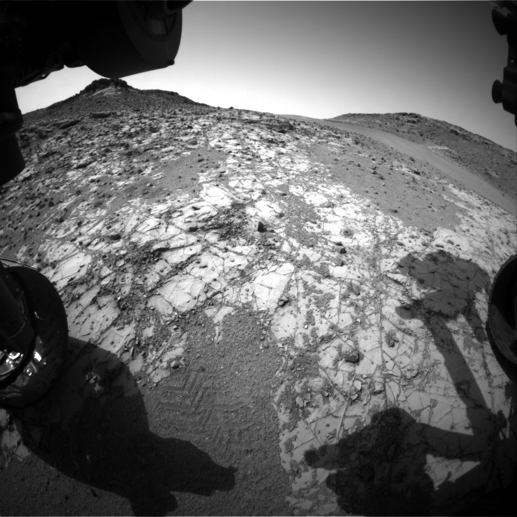 NASA's Mars rover Curiosity acquired this image using its Front Hazard Avoidance Cameras (Front Hazcams) on Sol 917