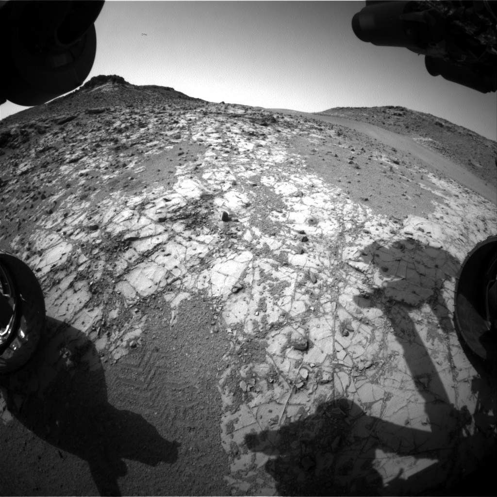 Nasa's Mars rover Curiosity acquired this image using its Front Hazard Avoidance Camera (Front Hazcam) on Sol 917, at drive 450, site number 45