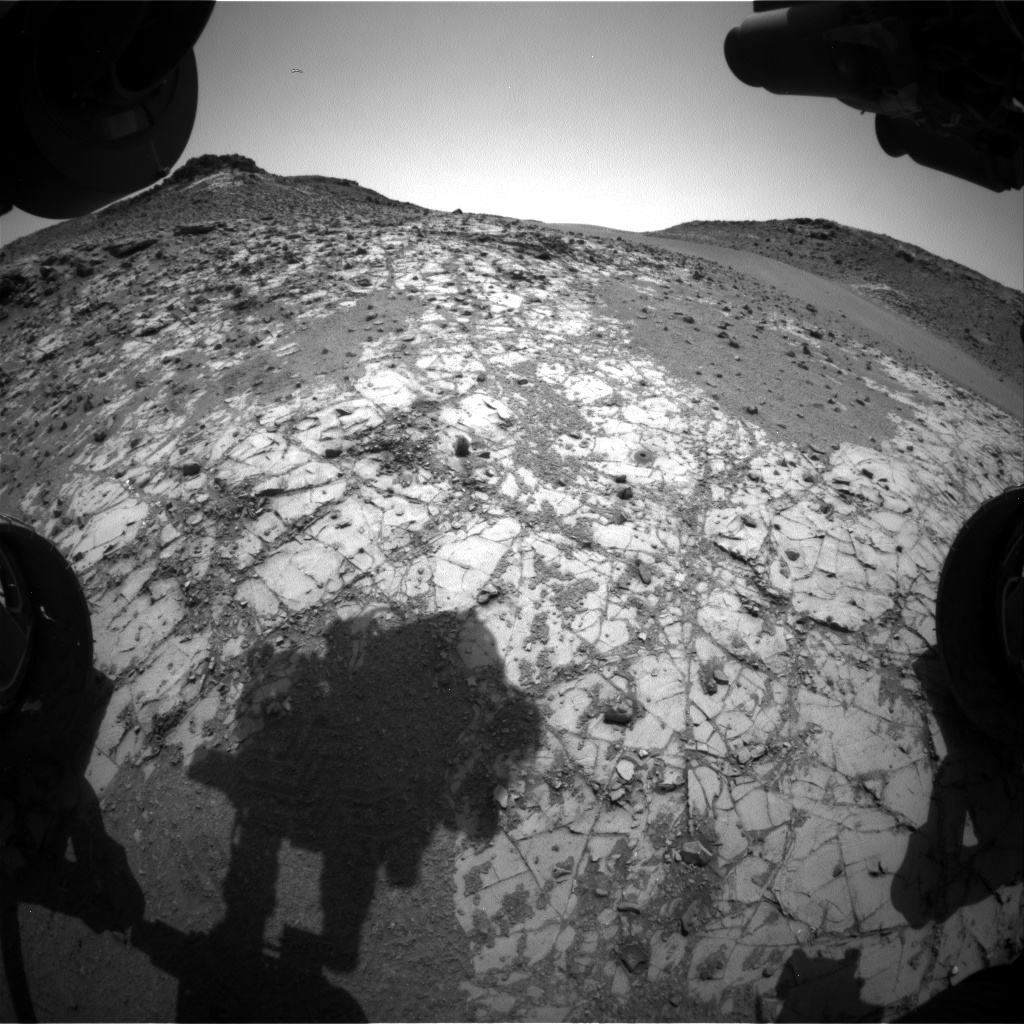 Nasa's Mars rover Curiosity acquired this image using its Front Hazard Avoidance Camera (Front Hazcam) on Sol 918, at drive 450, site number 45