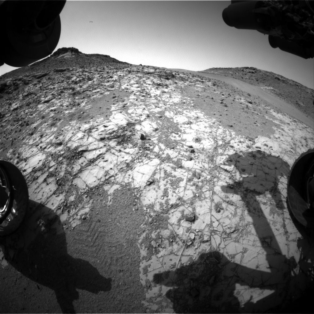 Nasa's Mars rover Curiosity acquired this image using its Front Hazard Avoidance Camera (Front Hazcam) on Sol 919, at drive 450, site number 45