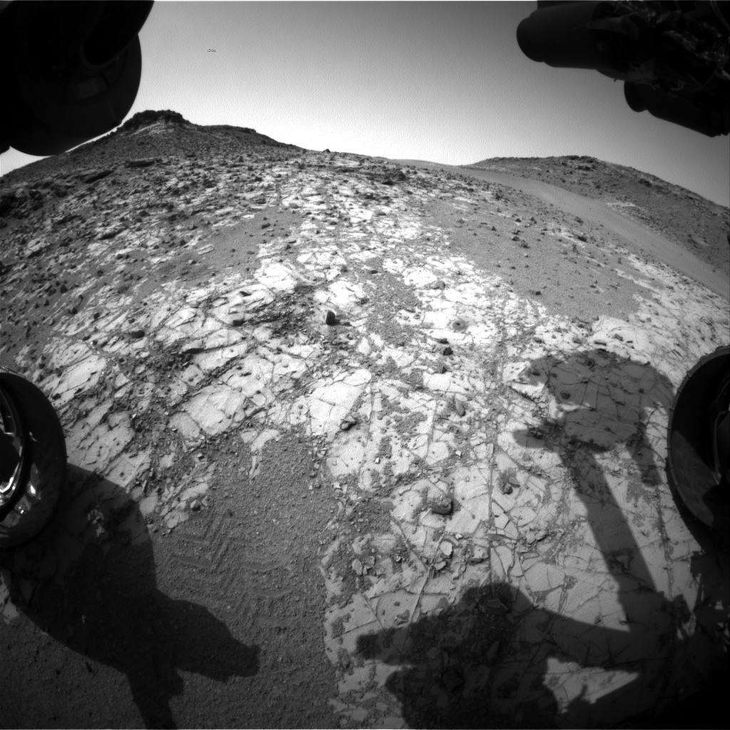 Nasa's Mars rover Curiosity acquired this image using its Front Hazard Avoidance Camera (Front Hazcam) on Sol 920, at drive 450, site number 45