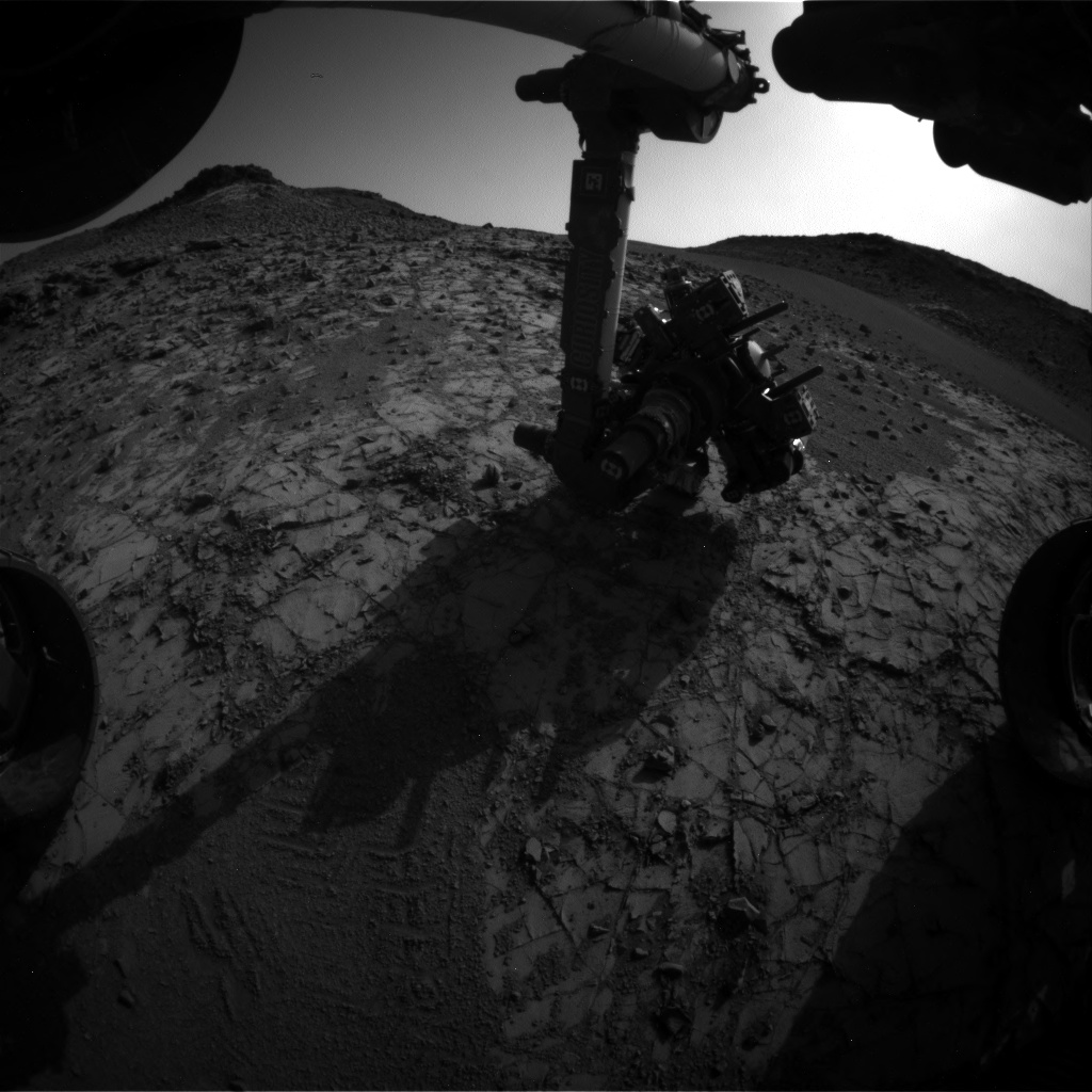 Nasa's Mars rover Curiosity acquired this image using its Front Hazard Avoidance Camera (Front Hazcam) on Sol 922, at drive 450, site number 45