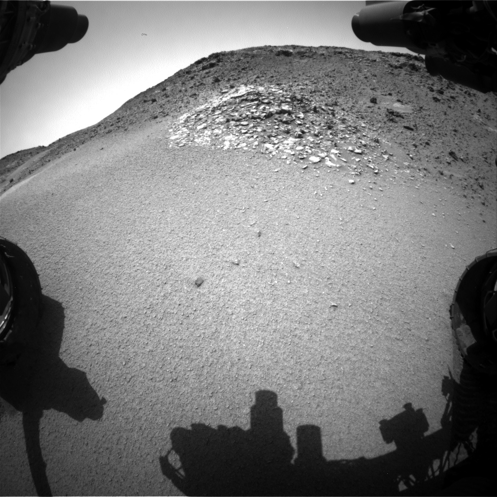 Nasa's Mars rover Curiosity acquired this image using its Front Hazard Avoidance Camera (Front Hazcam) on Sol 923, at drive 558, site number 45