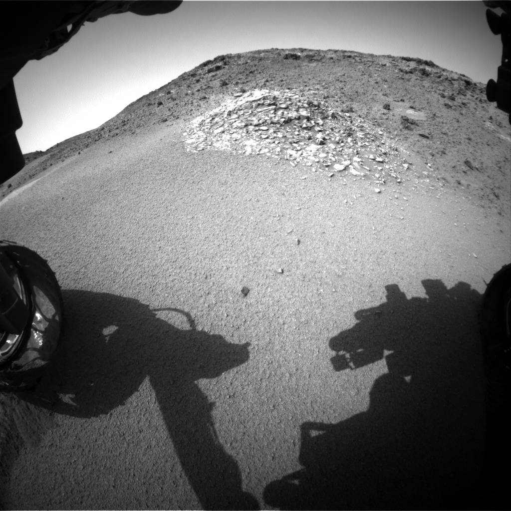 Nasa's Mars rover Curiosity acquired this image using its Front Hazard Avoidance Camera (Front Hazcam) on Sol 924, at drive 558, site number 45