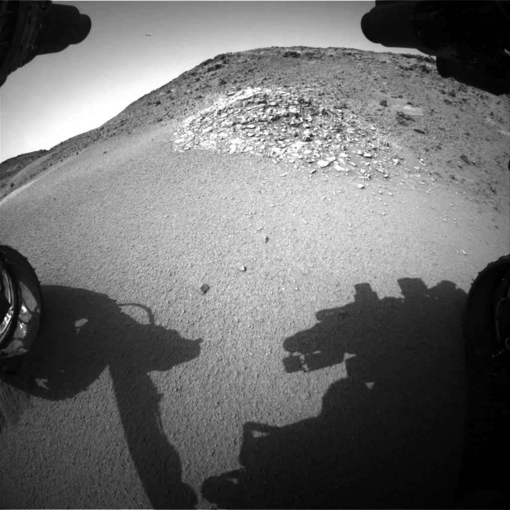 NASA's Mars rover Curiosity acquired this image using its Front Hazard Avoidance Cameras (Front Hazcams) on Sol 924