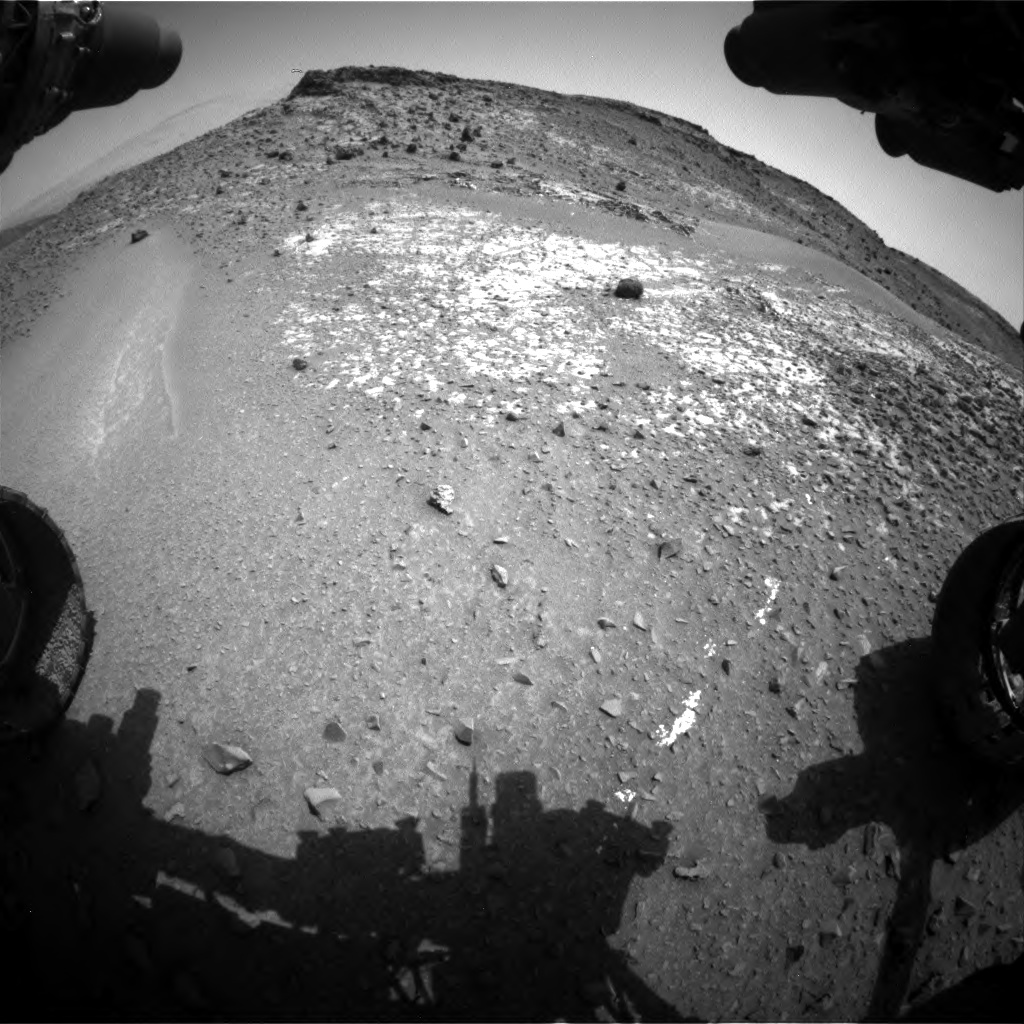 Nasa's Mars rover Curiosity acquired this image using its Front Hazard Avoidance Camera (Front Hazcam) on Sol 924, at drive 774, site number 45
