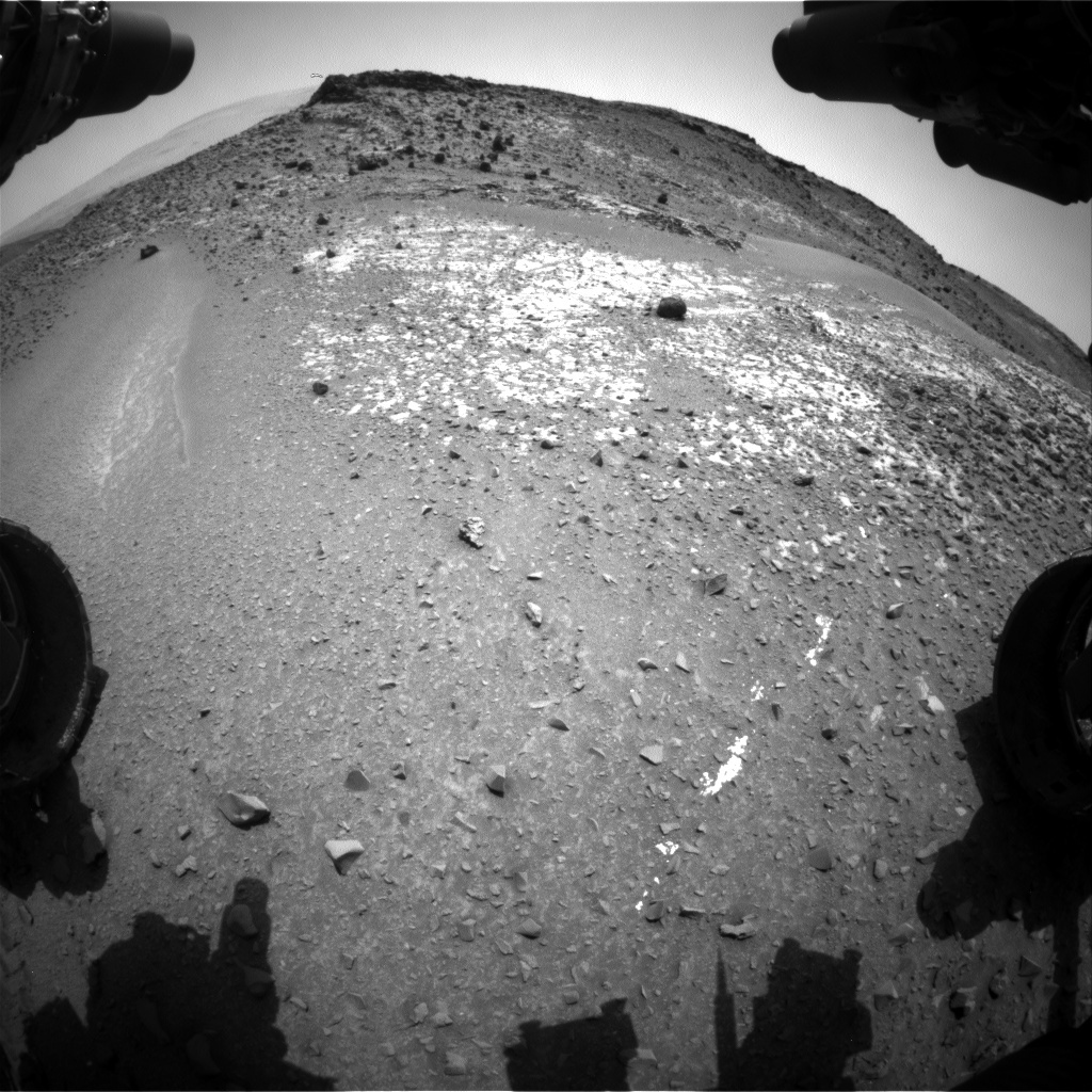 NASA's Mars rover Curiosity acquired this image using its Front Hazard Avoidance Cameras (Front Hazcams) on Sol 925
