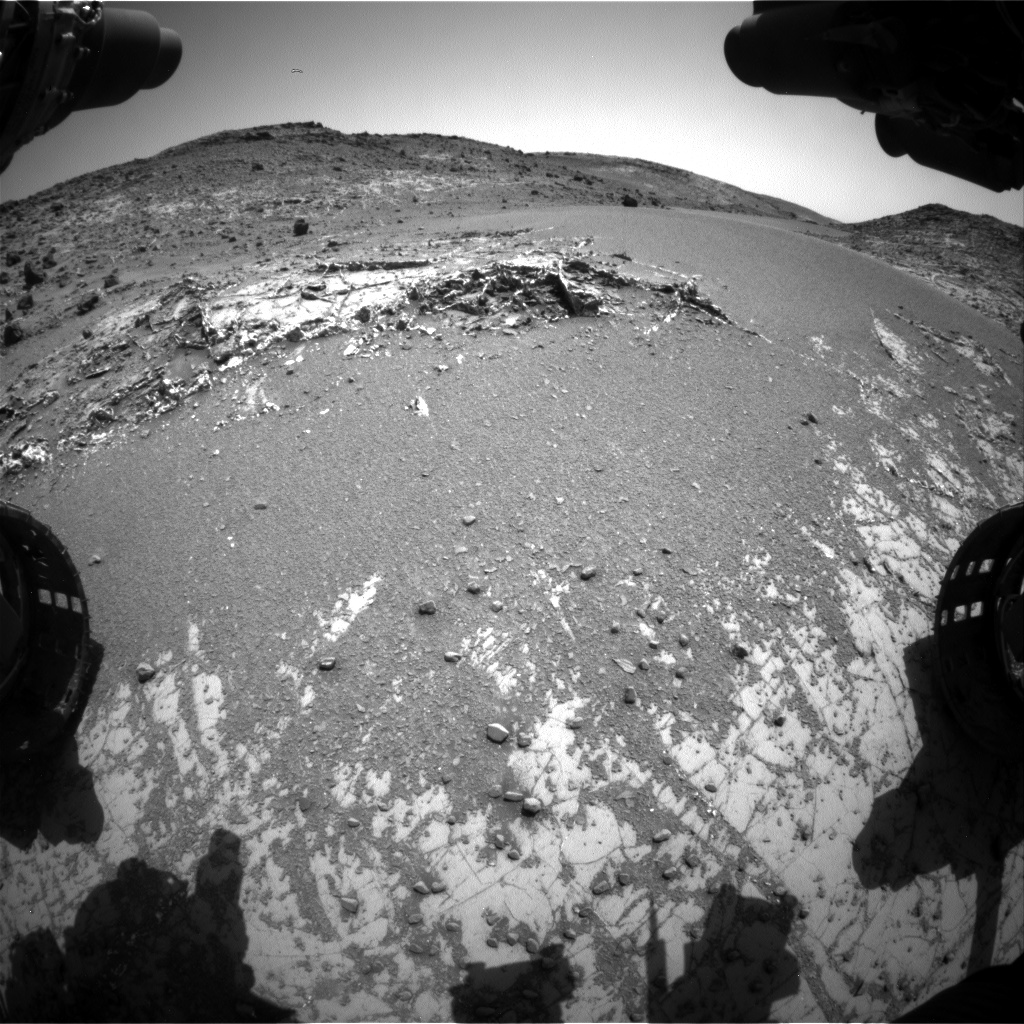 Nasa's Mars rover Curiosity acquired this image using its Front Hazard Avoidance Camera (Front Hazcam) on Sol 926, at drive 852, site number 45