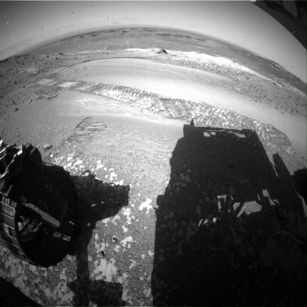 NASA's Mars rover Curiosity acquired this image using its Rear Hazard Avoidance Cameras (Rear Hazcams) on Sol 926