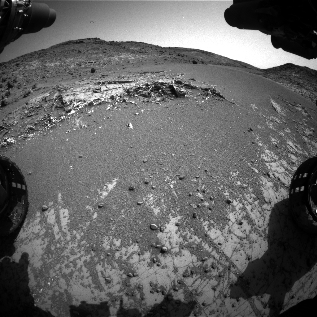 Nasa's Mars rover Curiosity acquired this image using its Front Hazard Avoidance Camera (Front Hazcam) on Sol 928, at drive 852, site number 45