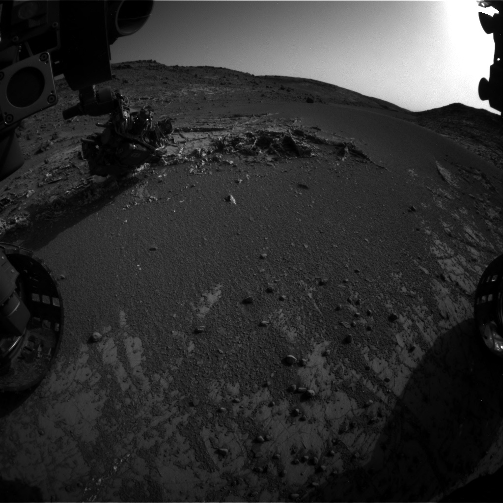 NASA's Mars rover Curiosity acquired this image using its Front Hazard Avoidance Cameras (Front Hazcams) on Sol 930