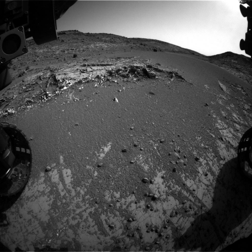 Nasa's Mars rover Curiosity acquired this image using its Front Hazard Avoidance Camera (Front Hazcam) on Sol 931, at drive 852, site number 45