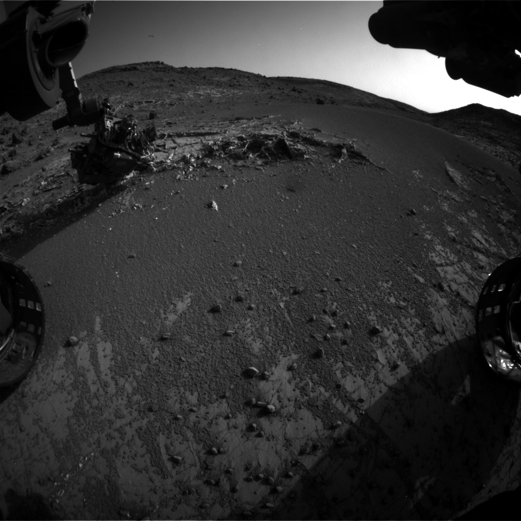 Nasa's Mars rover Curiosity acquired this image using its Front Hazard Avoidance Camera (Front Hazcam) on Sol 935, at drive 852, site number 45