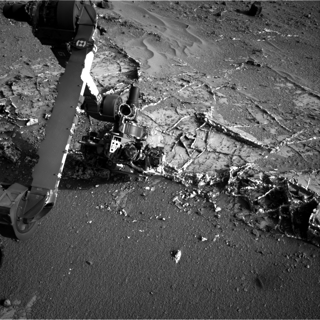 NASA's Mars rover Curiosity acquired this image using its Right Navigation Cameras (Navcams) on Sol 935