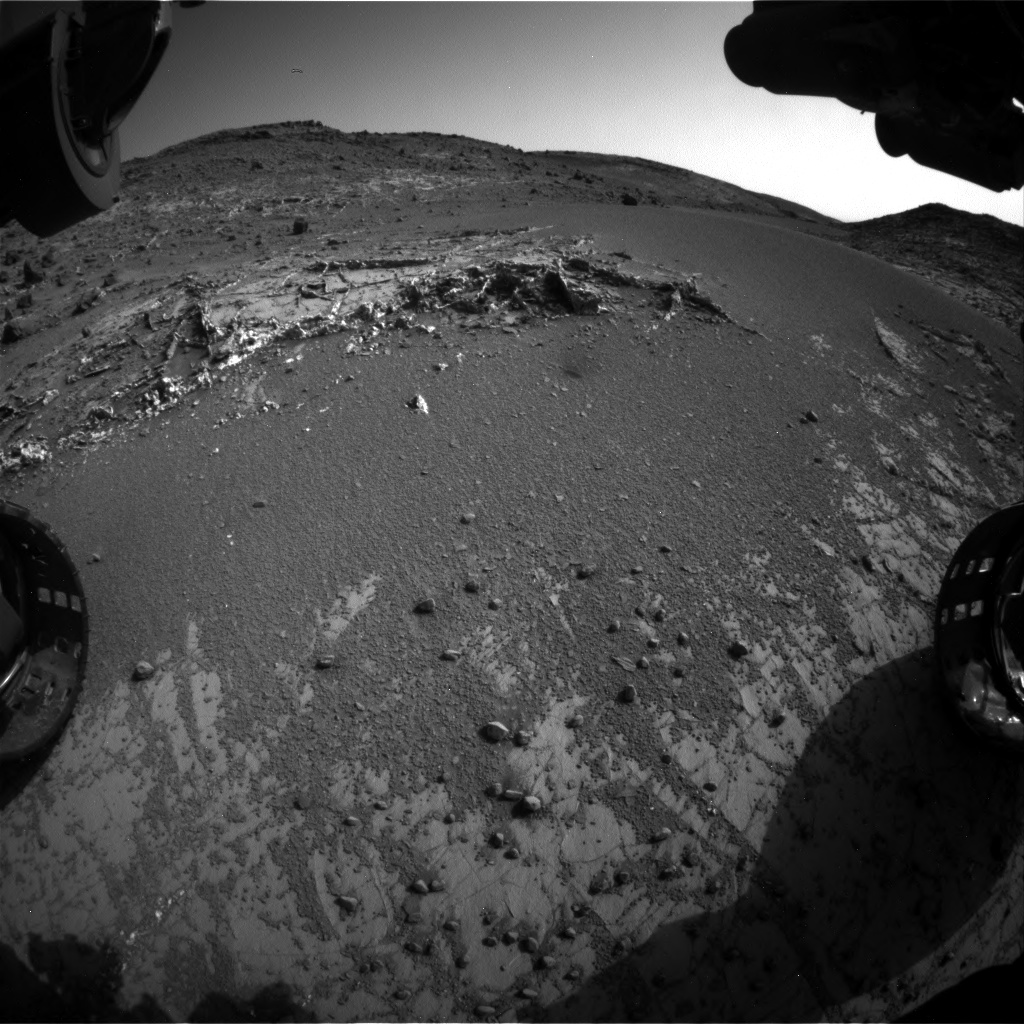 Nasa's Mars rover Curiosity acquired this image using its Front Hazard Avoidance Camera (Front Hazcam) on Sol 936, at drive 852, site number 45