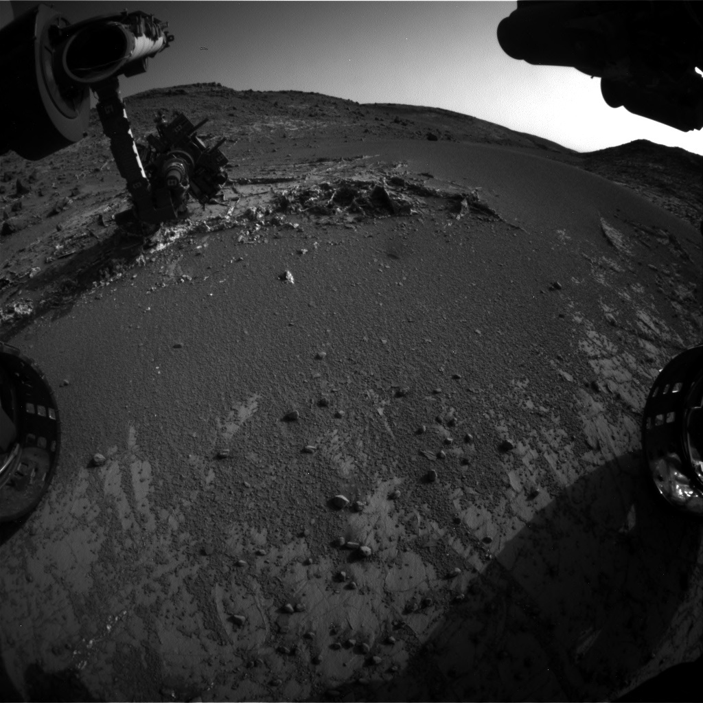 NASA's Mars rover Curiosity acquired this image using its Front Hazard Avoidance Cameras (Front Hazcams) on Sol 936