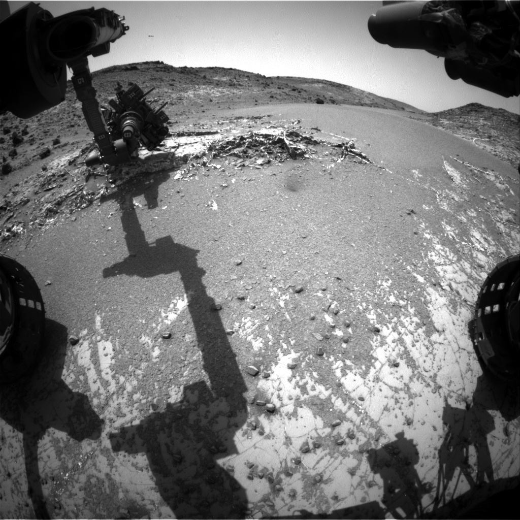Nasa's Mars rover Curiosity acquired this image using its Front Hazard Avoidance Camera (Front Hazcam) on Sol 937, at drive 852, site number 45