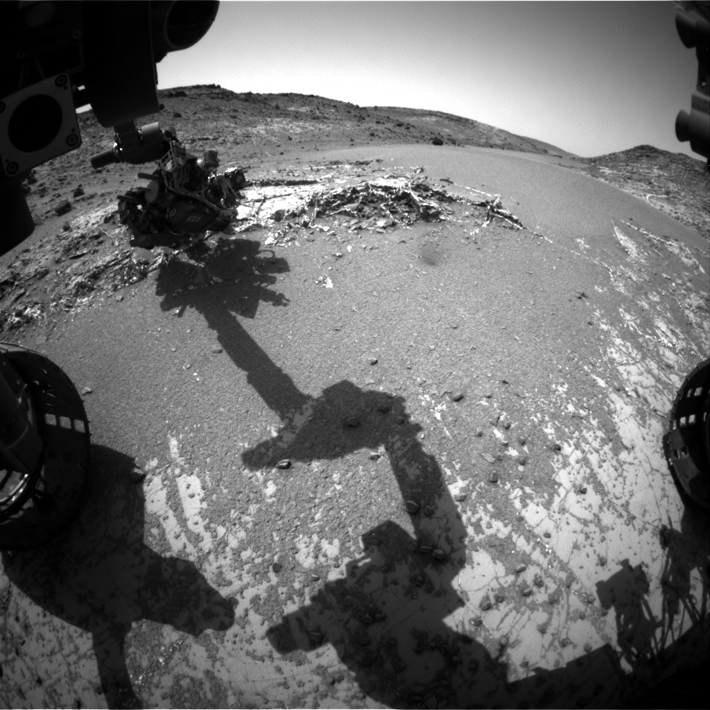 Nasa's Mars rover Curiosity acquired this image using its Front Hazard Avoidance Camera (Front Hazcam) on Sol 938, at drive 852, site number 45