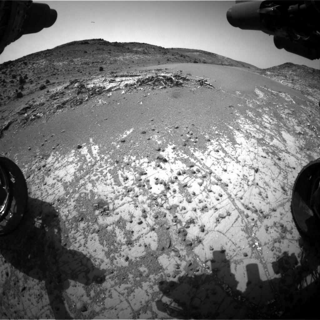 Nasa's Mars rover Curiosity acquired this image using its Front Hazard Avoidance Camera (Front Hazcam) on Sol 940, at drive 864, site number 45