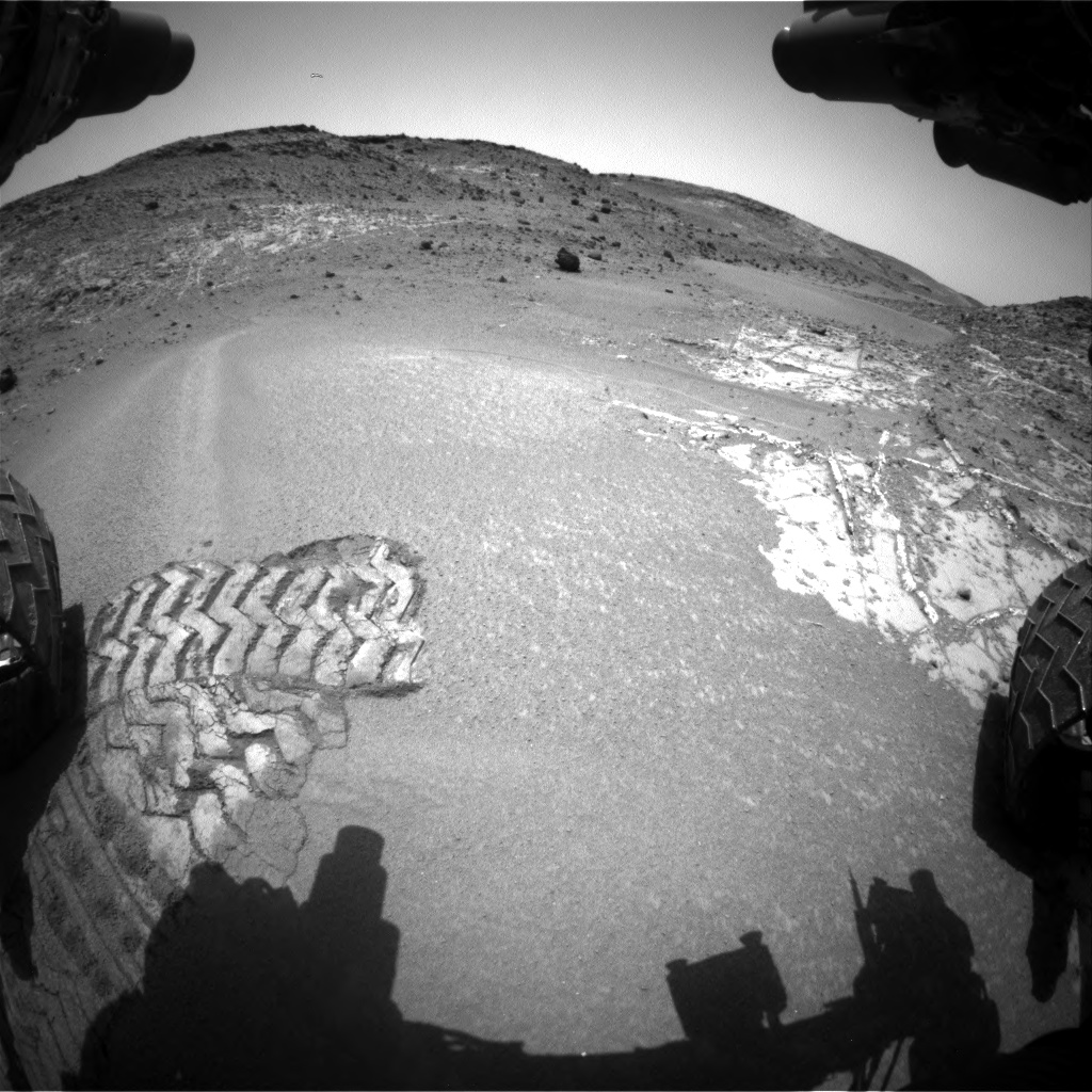 Nasa's Mars rover Curiosity acquired this image using its Front Hazard Avoidance Camera (Front Hazcam) on Sol 940, at drive 960, site number 45