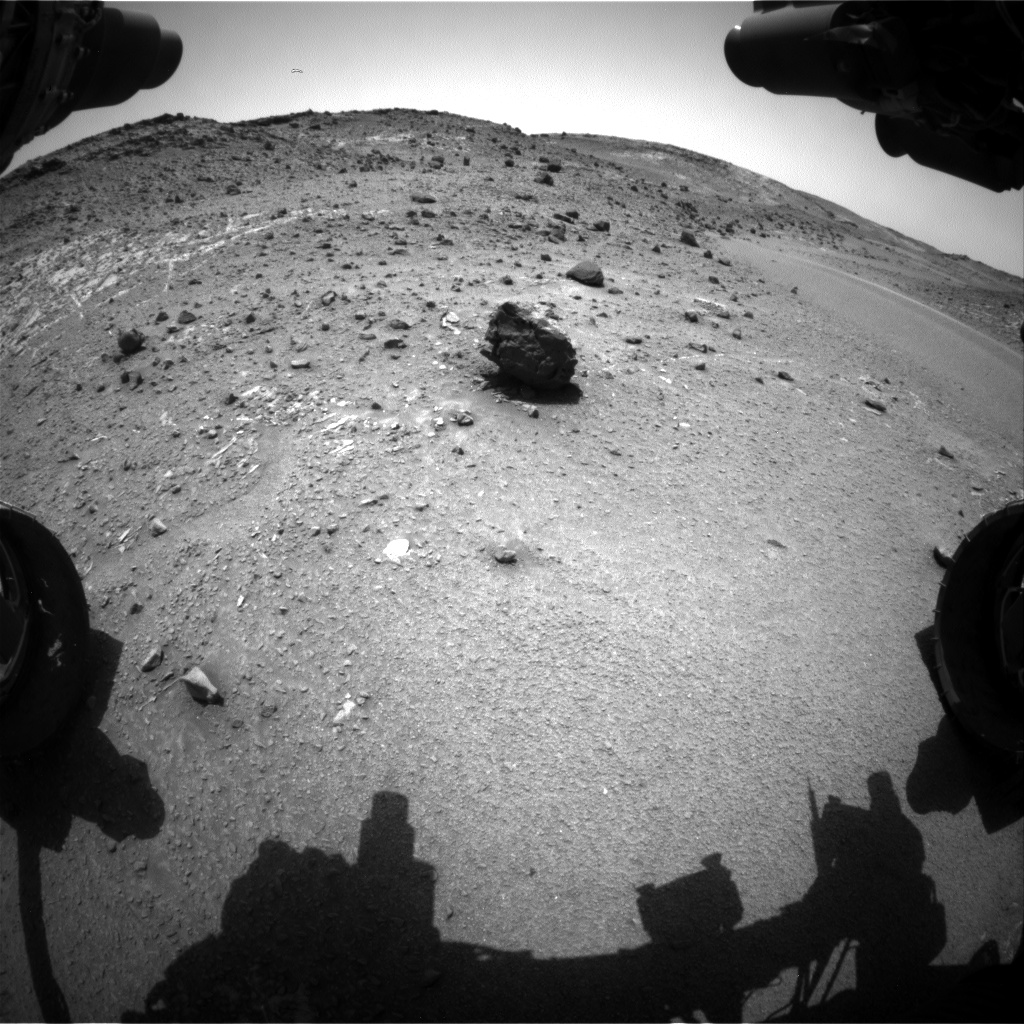 Nasa's Mars rover Curiosity acquired this image using its Front Hazard Avoidance Camera (Front Hazcam) on Sol 940, at drive 996, site number 45